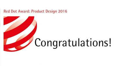 台湾大易国际荣获2016Red Dot Design Award红点设计大奖